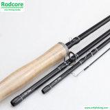 Mouche Rod modérée de carbone d'action d'Eco 9FT 4PC 8wt