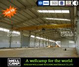 con el edificio de la estructura de acero de hoja de acero de la pared de ladrillo/el almacén de acero ligero/el taller de acero ligero