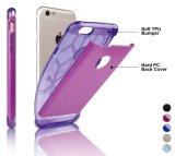 2 dans 1 protection duelle de couche avec la couverture arrière de PC dur + doucement cas de butoir de TPU [amincir l'ajustement] 4.7 pouces d'iPhone 7