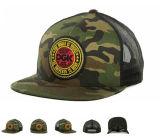 Pressional OEMは3D刺繍6のパネルのカムフラージュのスポーツの野球帽をカスタマイズした