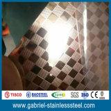 AISI 201 304 Superspiegel-Ende-1.2mm geprägtes Edelstahl-Blatt
