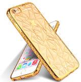el Rhombus del cordón del cubo del agua 3D electrochapa la caja del teléfono celular de TPU para el as de Samsung J1 (XSDD-042)