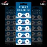 OEM AG4 de Batterij van de Cel van de Knoop Alkalische 1.5V