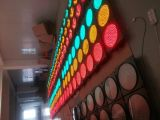 Hohe Helligkeit-angeschaltene Verkehrs-blinkende Solarwarnleuchte