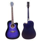 中国Aiersi 41インチによってキルトにされる皮のアコースティックギターモデルSg028ca