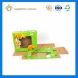 고품질 과일 플라스틱 손잡이 (강한 E 플루트 물결 모양 상자)를 가진 포장 화물 박스