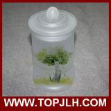 Anular o potenciômetro do selo do Sublimation do frasco do armazenamento do vidro geado