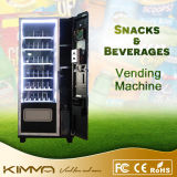 Smart Black Snacks e Beverage Vending Machine com pagamento de cartão