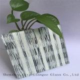 5mm+Silk+5mm hanno personalizzato gli occhiali di protezione di vetro/di vetro/panino di arte/vetro laminato tinto per la decorazione