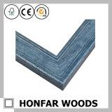 Frame de retrato de madeira azul retro para a decoração