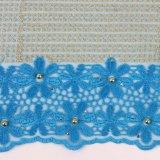 Tessuto francese del merletto della rete della maglia di Candlace per il partito di Aso Ebi