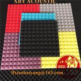 Nouveau 12PCS Black and Red Bundle Hemisphere Grid Type Panneau acoustique Absorption acoustique Mousse insonorisée