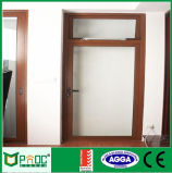 Puertas de aluminio del marco del grano de madera con los certificados As2047