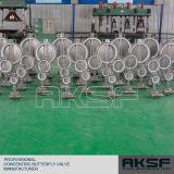 De volledige Vleugelklep van de Vleugelklep van de Fabriek van het Roestvrij staal CF8m In de Klep van Tianjin Exxon