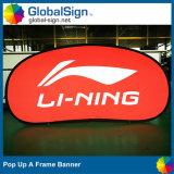 Горизонтальные сразу рекламировать фабрики Китая изготовленный на заказ хлопают вверх знамя рамки