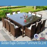 Mobilia pranzante quadrata del giardino degli insiemi del blocco per grafici di alluminio esterno