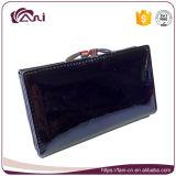 Piccolo raccoglitore nero del blocco per grafici del metallo delle donne del cuoio genuino con l'alta qualità