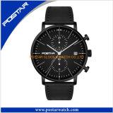 сдобренный 2.5D стеклянный светящий двойной wristwatch кожаный планки японии Movt времени