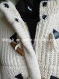 Пальто кардигана падения/зимы толщиное для женщины/повелительниц