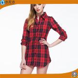 Factory OEM 2017 Printemps Ladies Long Blouse Chemises Blouses de mode