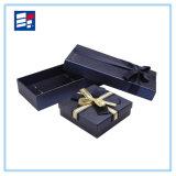 Caja de encargo de la joyería del papel del Leatherette para el embalaje