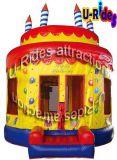 Pastel de cumpleaños inflable salto de rebote para la fiesta