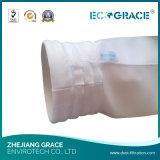 Bolso de filtro tejido del polvo de la fibra de vidrio de la E-Clase con la capa de PTFE