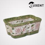 Contenitore di alimento di ceramica di vendita superiore, cassetto di cottura di colore campione