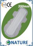 350mmの綿の陰イオンの女らしい生理用ナプキン