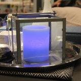 선물과 결혼식을%s 기둥 불꽃 없는 LED 전자 초