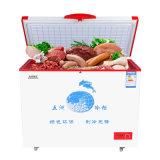 Congélateur simple ouvert de poitrine de porte de consommation de dessus simple inférieur de la température