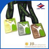 Brasileiro 10 do aniversário de Jiu-Jitsu das medalhas do ouro da prata anos de lembrança das medalhas de bronze