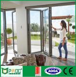 Rassemblement Bi-Fold As2047 de portes de profil en aluminium de matériau de construction
