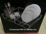 Teller-Plattedrainer-Wannen-trocknender Trockner-Zahnstangen-Tellersegment-Halter-Speicher-Organisator
