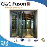 Энергосберегающая алюминиевая дверь складчатости с термально проломом