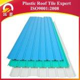 Buena hoja acanalada del material para techos del PVC de la resistencia a la corrosión del precio competitivo