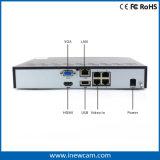 magnetoscopio della rete del CCTV di 4CH 1080P con il Poe