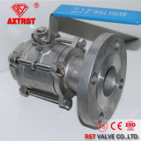 filetto 3PC/valvola a sfera flangiata dell'acciaio inossidabile