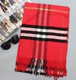 최신 판매 빨간 캐시미어 천 긴 온난한 숄 (80017-1)