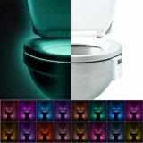 Luz activada movimiento con pilas cambiante de la noche del tocador del cuarto de baño del LED