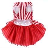 L'animal familier de robe de crabot de Legant vêtx l'habillement rouge de chat de chemises rayées