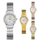형식 시계 스테인리스 숙녀 다이아몬드 수정같은 석영 시계 71084