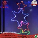 LED 옥외 점화 산타클로스 다색 별 크리스마스 밧줄 훈장 빛