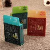 Impresos de alta calidad de diseño plegable de la caja plástica del animal doméstico con la manija