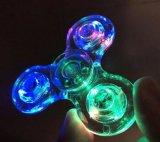 Venta caliente transparente Fidget Spinner Hand Spinner Finger Spinner con luz LED