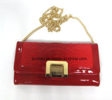 Le donne di cuoio della rappezzatura dell'unità di elaborazione di brevetto rosso di Croco dovrebbero concatenare il sacchetto di frizione
