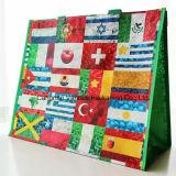 O saco de compra tecido PP de Foldbale com projeta