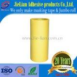 Papel de Crepe de la cinta adhesiva del rodillo enorme del amarillo de la buena calidad para la reparación del motor con la muestra libre