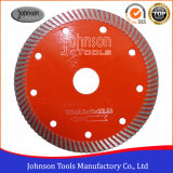 125mm Hot Press Sinterizado Turbo Saw Blade Lámina de corte de granito