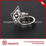 Reeks van de Ring van de Juwelen van de Diamant van de Hars van de Legering van het zink de Witte Decoratieve
